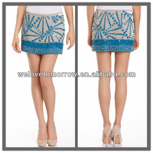 Fashion lady Beaded skirt, apparel made in China, alibaba dresses (TW0045K)