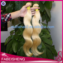 Hot sale top grade 6A Body Wave 613 platinum blonde white girl hair extensions