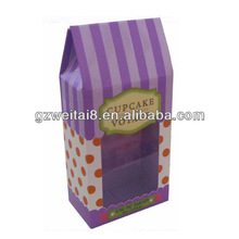 elegant new design small cupcake box, cardboard box for cupcakes or cakes packaging