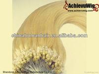 Unprocessed 5A Alibaba virgin malaysian micro loop hair