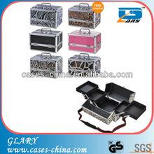Aluminum metal professional makeup display case