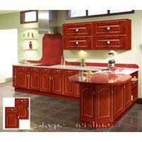 Solid wood kitchen cabinet design
