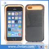 2014 New arrivals fashion dual color hybrid pc silicone case for iphone 5s