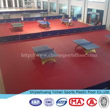 Materials of shiny pvc flooring used basketball