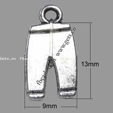 zinc alloy jeans shaped pendants