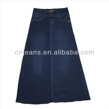 GZY Hot ! latest ladies wholesale long denim lady skirt