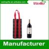 Custom two bottle wine carrier bag for Christmas