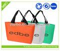 hot venda personalizados reutilizáveis não tecido embalagem do saco da pena para fazer compras