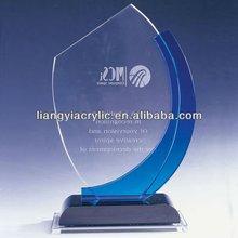 elegant top grade crystal corporate souvenir clear acrylic award plaque manufacturer