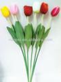 decorativi 62cm di seta artificiale tulipano con singolo stelo in diversi colori