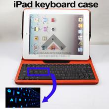 Backlight Bluetooth Keyboard Case For ipad 2/ipad 3