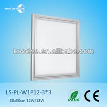 Qualité supérieure 30 x 30 cm led plafond suspendu lumière place panneau de led plafonnier