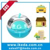 popular scents for marine apple shape glass perfume bottle