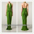 2014 mode féminine vert émeraude robe de soirée dos nu V neck backless sexy longues maxi robes de soirée turque robes pas cher