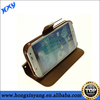 flip leather case for samsung galaxy S4, wallet stand leather case