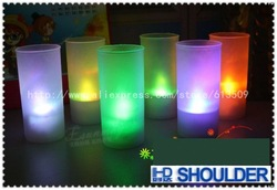 Mini 7 colors changing Voice control LED candle light, wedding/party Candle lamp