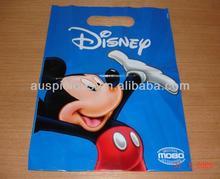 Custom Printing Die Cut Handle Plastic Shopping Bag