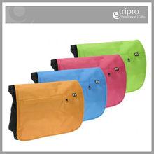 Custom logo embroidered fabric shoulder bag