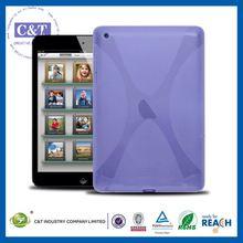 C&T Updated lignt blue tpu back cover case design for ipad mini