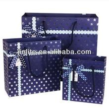 Korean hot silver luxury paper tote bags
