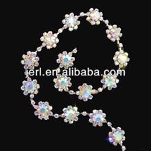 2014 popular design beautiful new bridal trim rhinestone for dress