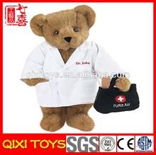 stuffed & plush brown doctor bear plush toy bear
