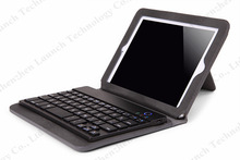 Folding PU Leather Case Cover With Silicon Bluetooth Keyboard for iPad mini