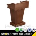 Design podium wood walnut modern style school furniture