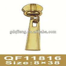 light gold zipper double puller slider