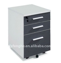 small wooden file cabinet with safe inside E-030