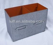 paint coating metal zinc double pencil case pencil container desk organizer