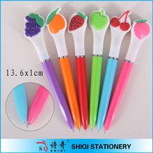2014 New novelty plastic fruit pens