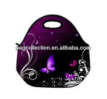 Butterfly Neoprene Travel Picnic Food Insulated Lunch Tote Cooler Bag Handbag