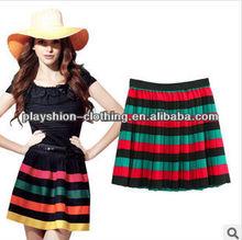 Classic European Brand Women Rainbow Skirt Fashion Cotton Skirt For Women