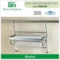 de alta calidad más caliente de aluminio plegable cesta de la compra