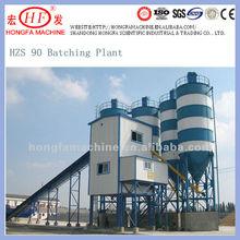 HZS90 mix, wet and dry concrete batching plant,precast concrete plants
