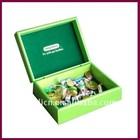 Luxury velvet Green Varnish Finish Wooden Chocolate Box for Wholesale