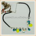 ingrosso moda collana di perline con resina e cavo di diamante collo per signora decorazione