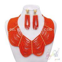 2014 New product wholesale coral bread jewelry set Dubai