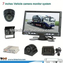 New 4 channels 7 inch vehicles with rear view cameras for bus/truck/trailer