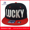 Cheap Wholesale Custom 3D Embroidery Snapback Cap Flat Brim WIth Round Sticker Snapback Cap/5/6 Panel Snapback Cap