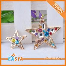 YiWu Accessory Manufacturer 2 Pieces Set Rhinestone Star Accessory