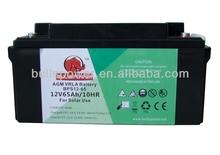 solar photovoltaic /solar light lead acid battery 65ah 12v
