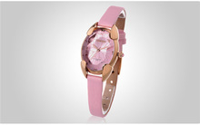 PU leather Strap and Alloy Case Watches 2014 New Design