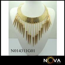 Drill pendants golden wholesale necklace for women