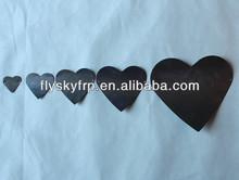 2014pop acrylic window display props heart sets