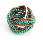 Vintage Beaded Twisted Bangle