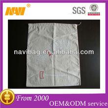 100% cotton drawstring shoe bag