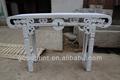 mão esculpida vintage madeira sólida mesa do altar branco