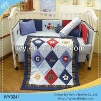 Luxury shiny baby cotton basketball bedding